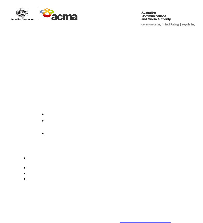 Media Advisory Public Hearing In Townsville ACMA's Reconnecting The Customer Inquiry